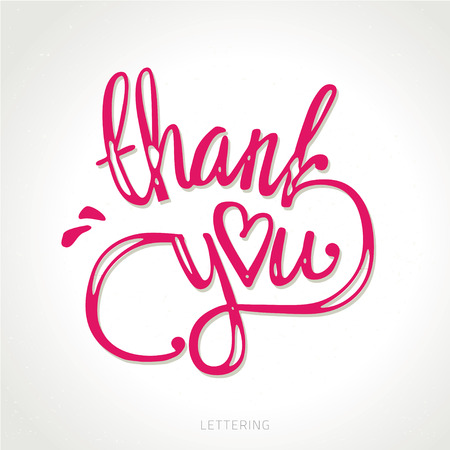 congratulations word: thank you hand lettering - handmade calligraphy vector illustration.