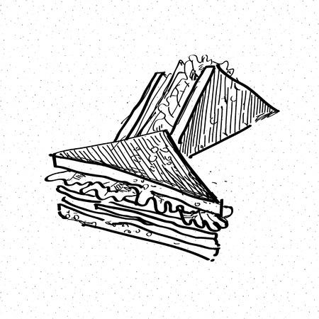 quick drawing: sandwich doodle Illustration
