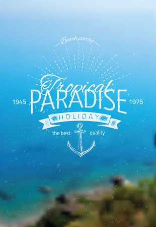 ocean background: Vector blurred background with sea landscape eps 10