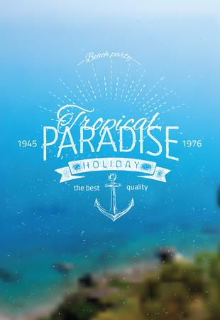 sea landscape: Vector blurred background with sea landscape eps 10