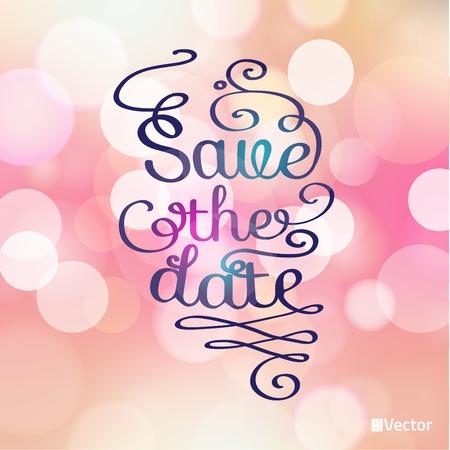 gratitudine: Salvare la scheda data in morbido sfondo colorato. Carta Gratitudine per diverse occasioni. Immagine vettoriale.