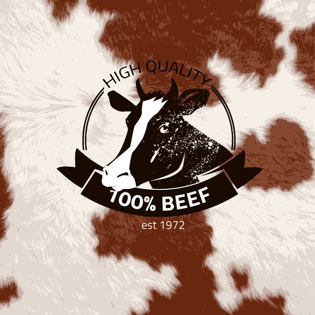 textured effect: alternative black bull label  stamp on textured background, which is made from several transparent layers for a worn, rubbed effect, therefore saved in eps 10