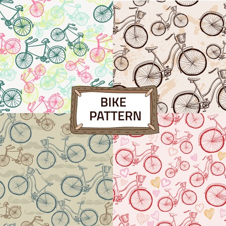 racing bicycle: Seamless bicycles pattern. Stylish sporty print.