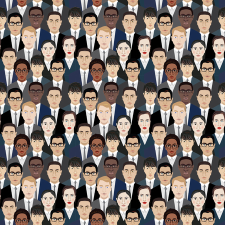 neighbourhood: Background with hundreds of business people. Vector illustration