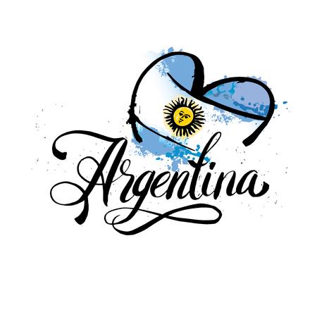 Argentina vintage card - vector illustration,