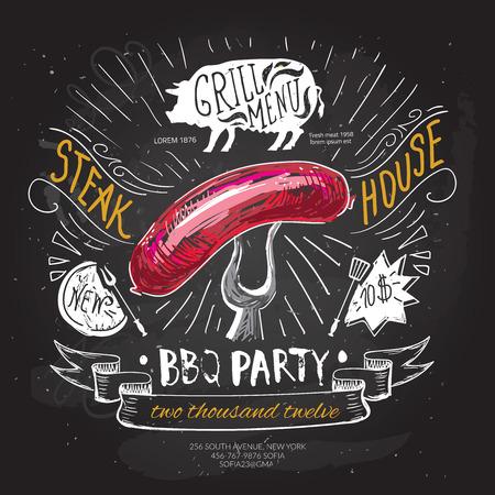 Fast food design illustration.