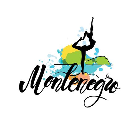 Vector logo Montenegro, woman sculpture of Dancer
