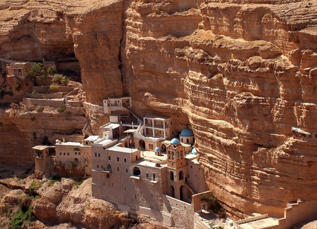 Monastery of St. George,Greek Orthodox monastery in the Judean Desert,Israel photo