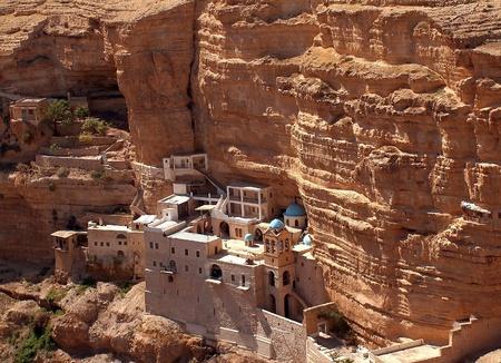Monastère de Saint-Georges, le grec monastère orthodoxe dans le désert de Judée, Israël