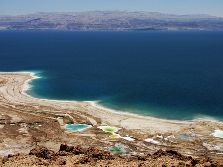 Viev on drying Dead Sea