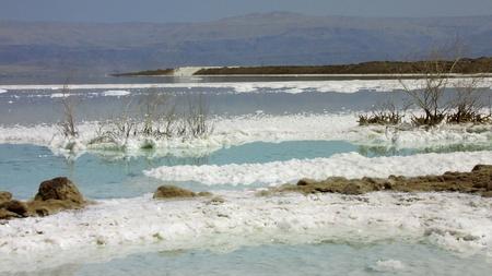 salt deposits in the Dead Sea Stock Photo - 12023253