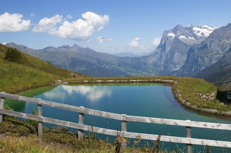 artificial lake in the Swiss Alps Stock Photo - 12047576