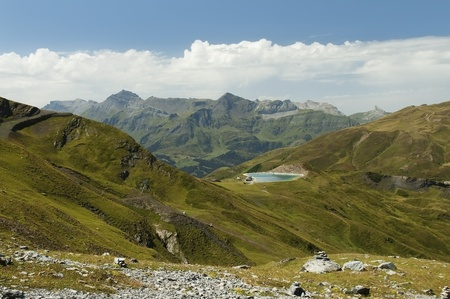 landscape in the Swiss Alps Stock Photo - 12047583