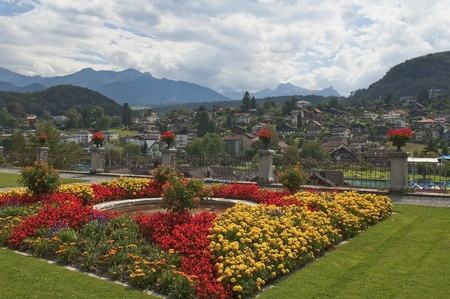 beautiful view of the small town Spiez, Switzerland Stock Photo - 12047603