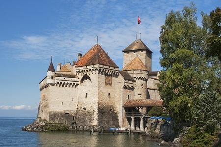 Chateau de Chillon,lake Geneva,montreux swiss Editorial