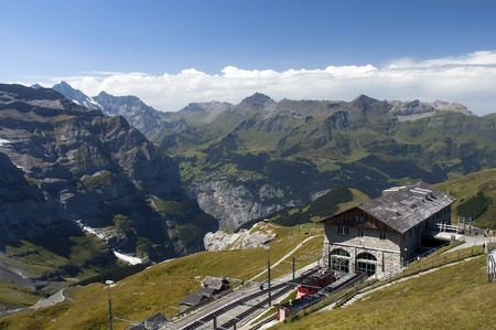 building a railway station in the Swiss mountains