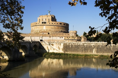 View of Castle Sant'Angelo, Rome Stock Photo - 12182319