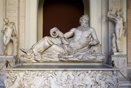 antiquity classical Greek marble sculpture in Vatican Stok Fotoğraf