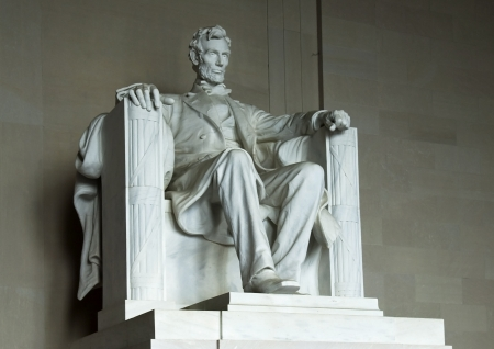 the world-famous statue of a seated Abraham Lincoln