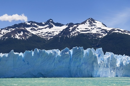 beautiful Glacier Perito Moreno in Argentina photo