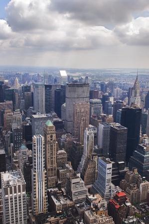 Panoramic view of Manhattan, New York, Stock Photo