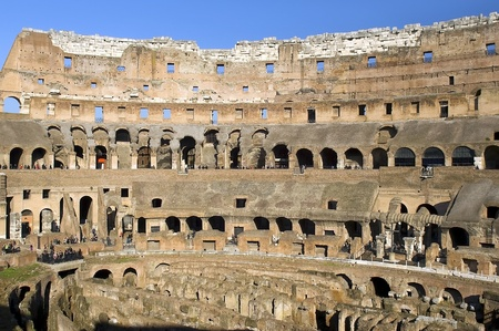 Interior of the Colosseum, Rome, Italy Editorial