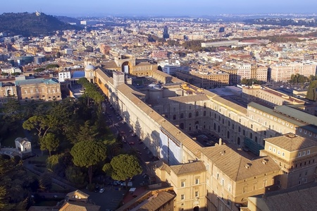 top view of the Vatican and the Vatican Museum Stock Photo - 12512879