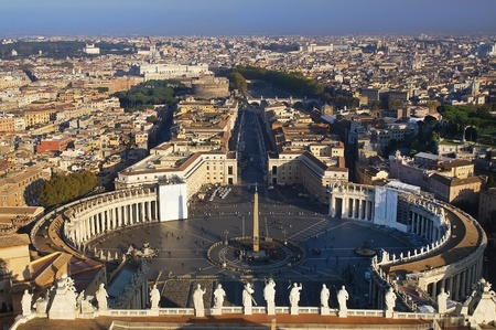 panoramic view of St.Peters Square