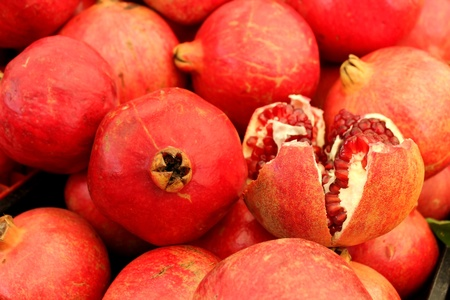 Agricultural background, a pile of beautiful pomegranates Stock Photo - 12519682