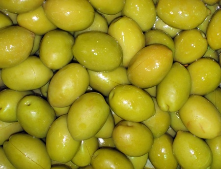 Agricultural background, a pickled green olives