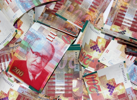 Israel NIS 200 banknotes Stock Photo