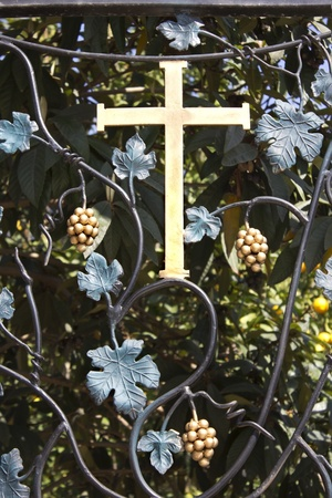 cross on a forged wrought Stock Photo - 12534342