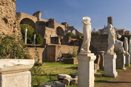 Ancient sculpture on Forum Romano,Rome,Italia photo