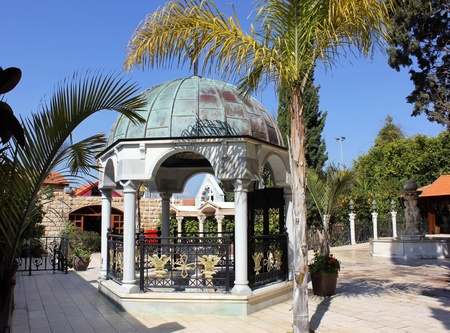 courtyard with a fountain in the church of the first miracle, Kefar Cana, Israel Stock Photo - 12764769