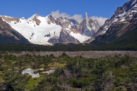 Lake at the foot of top of Fitz Roy, Patagonia, Argentina Stock Photo - 12765744