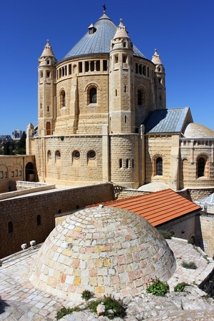 Dormition abbey and Monastery on Mount Zion in Jerusalem Stock Photo - 12766250