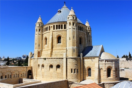 Dormition abbey and Monastery on Mount Zion in Jerusalem Stock Photo - 12807120