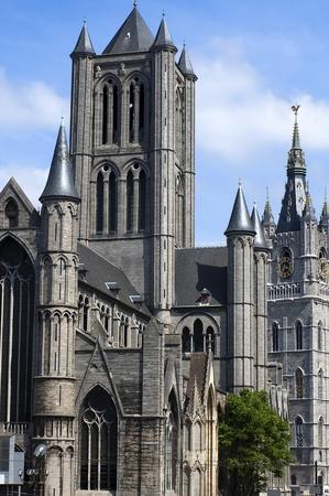 The Saint Nicholas church in Ghent in Belgium Stock Photo - 12807177