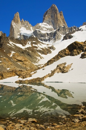 snow on top of Fitz Roy, Patagonia Argentina Stock Photo - 12807158