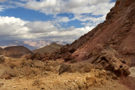 mountainous desert near the Red Sea in Israel photo