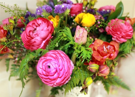 a bouquet of bright and colorful flowers Stock Photo - 13003238
