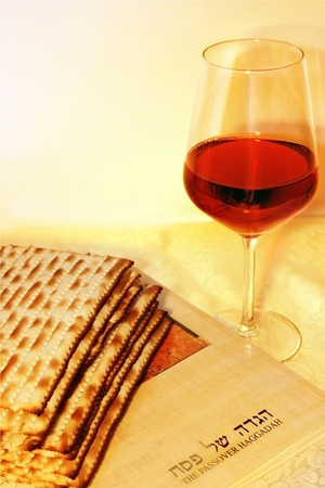 Jewish holiday of Passover and its attributes photo