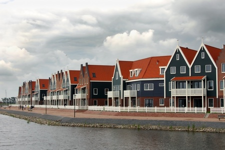 fishing village of Volendam Holland Stock Photo
