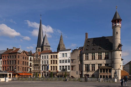 on the streets of Ghent Belgium photo