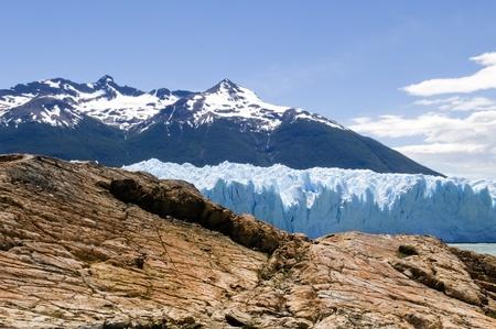 rock and ice, the glacier Perito Moreno, of Argentina photo