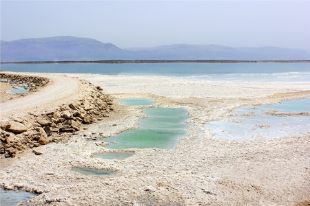 Landscapes of the Dead Sea,salt deposits