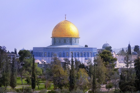 view of the golden Dome of the Rock of Al Aqsa Mosque  Jerusalem, Israel