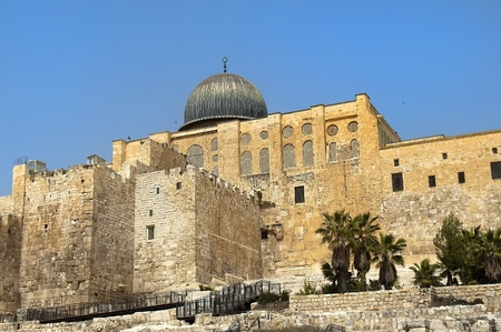 the ancient walls of the great Jerusalem, Israel Stock Photo - 13447392
