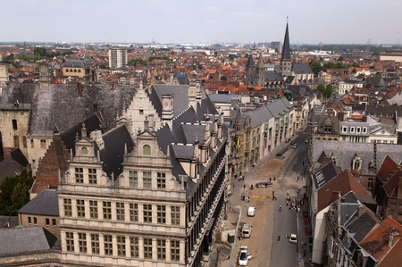 top view of Ghent in Belgium Stock Photo - 13437004