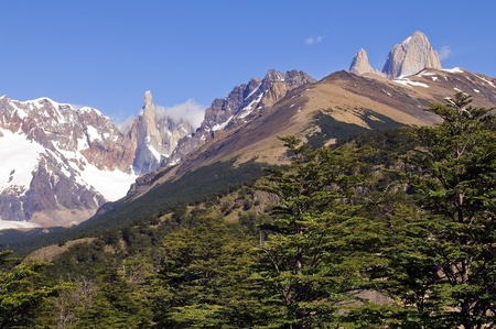 fitz: very nice view to the top of Fitz Roy, Argentina Stock Photo